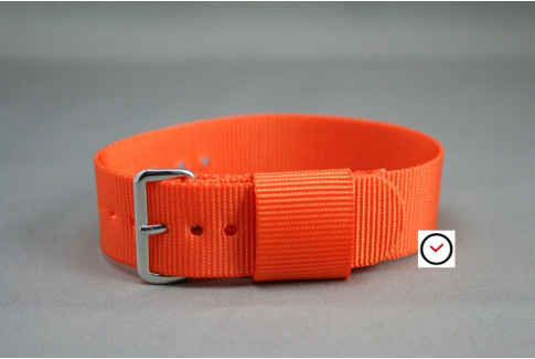 Orange US Military nylon watch strap