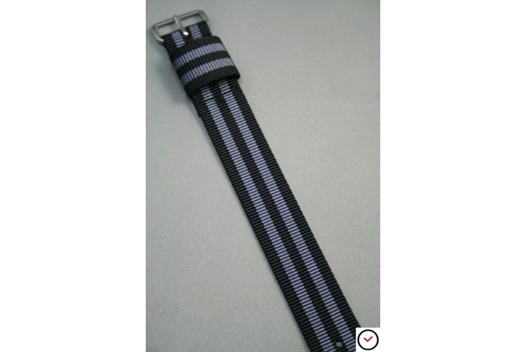 Bracelet nylon US Military Bond Craig (Noir Gris)