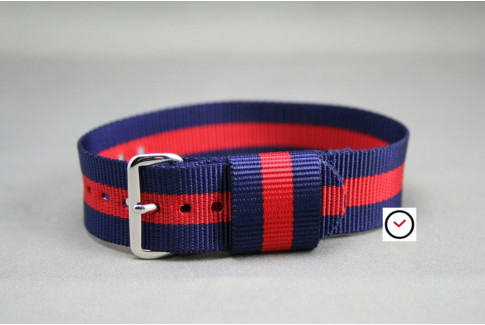 Navy Blue Red US Military nylon watch strap