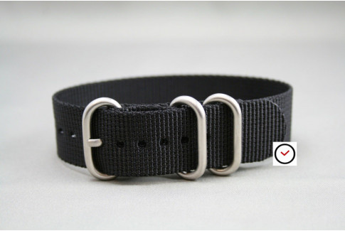 Black ZULU nylon strap (highly resistant fabric)