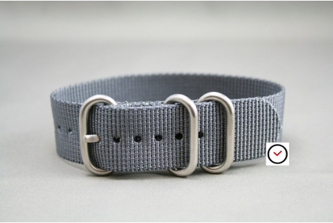 Grey ZULU nylon strap (highly resistant fabric)