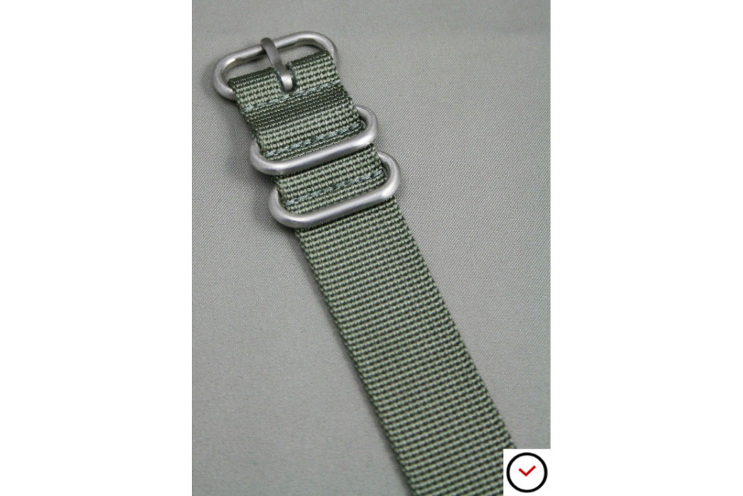 Bracelet nylon ZULU Gris Vert