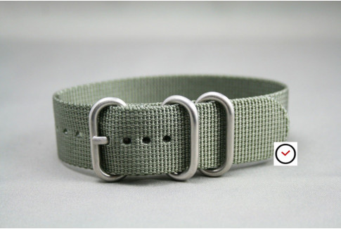 Green Grey ZULU nylon strap (highly resistant fabric)