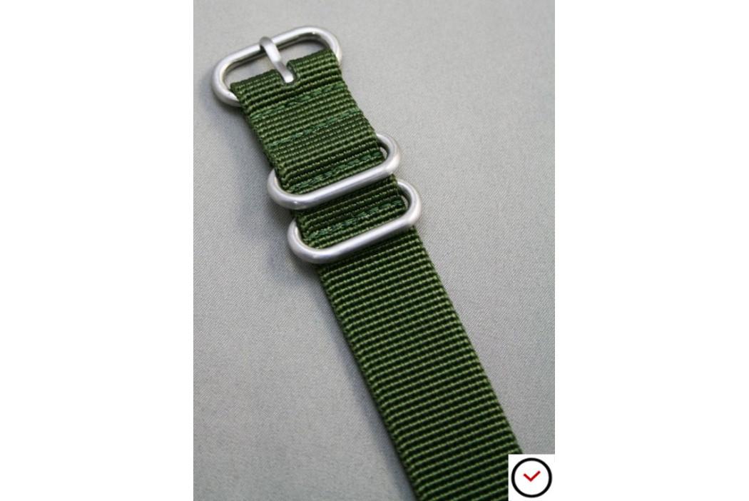 Bracelet nylon ZULU Vert Kaki (Militaire)