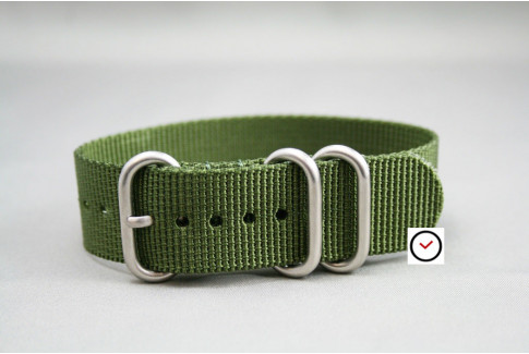 Military Green ZULU nylon strap (highly resistant fabric)