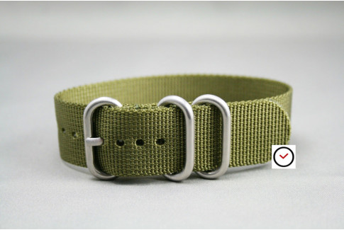 Olive Green ZULU nylon strap (highly resistant fabric)