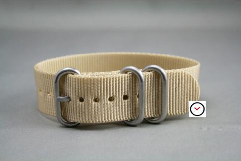 Bracelet nylon ZULU Beige Sable