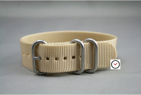 Sandy Beige ZULU nylon strap (highly resistant fabric)