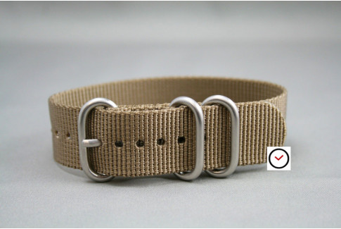 Bronze Brown ZULU nylon strap (highly resistant fabric)