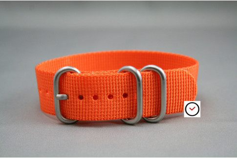 Orange ZULU nylon strap (highly resistant fabric)