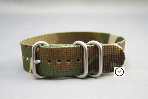 Camouflage ZULU nylon strap (highly resistant fabric)