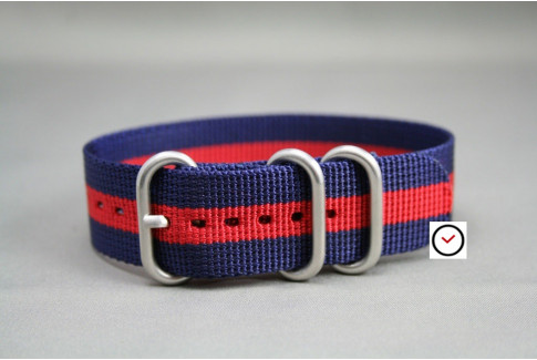 Navy Blue Red ZULU nylon strap (highly resistant fabric)