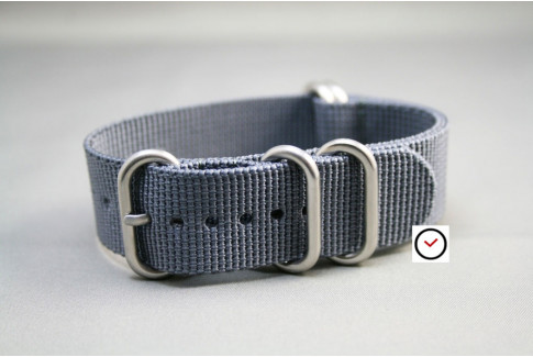 Grey NATO ZULU nylon strap (highly resistant fabric)