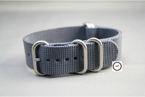 Grey NATO ZULU nylon strap (highly resistant fabric)Grey NATO ZULU nylon strap (highly resistant fabric)