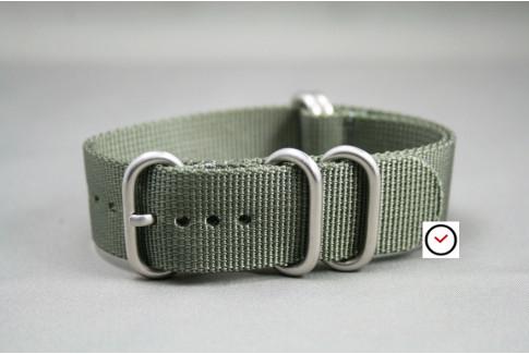 Bracelet nylon NATO ZULU Gris Vert