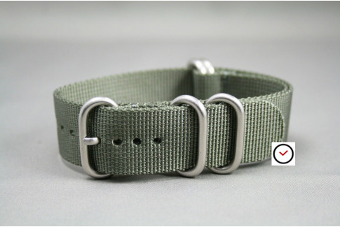Green Grey NATO ZULU nylon strap (highly resistant fabric)