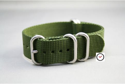 Bracelet nylon NATO ZULU Vert Kaki (Militaire)