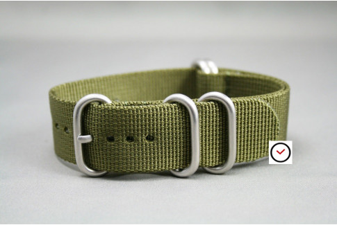 Olive Green NATO ZULU nylon strap (highly resistant fabric)