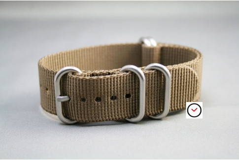 Bronze Brown NATO ZULU nylon strap (highly resistant fabric)