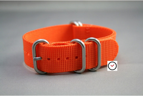 Orange NATO ZULU nylon strap (highly resistant fabric)