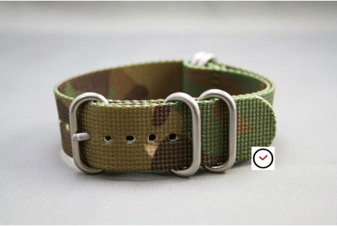 Camouflage NATO ZULU nylon strap (highly resistant fabric)