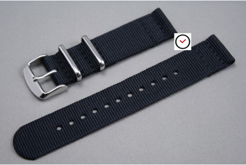 Black 2 pieces NATO strap (nylon)