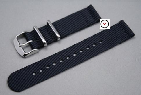 Black 2 pieces NATO strap (nylon)