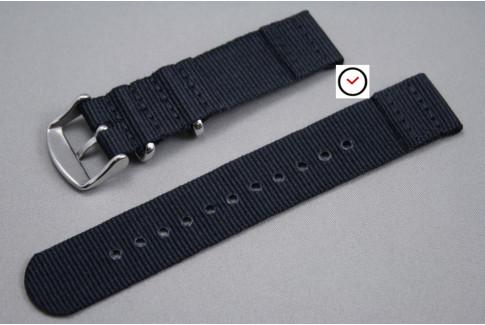 Bracelet montre NATO 2 pièces Noir