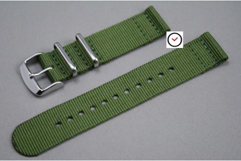 Bracelet montre NATO 2 pièces Vert Kaki (Militaire)