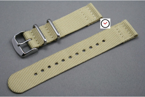 Sandy Beige 2 pieces NATO strap (nylon)