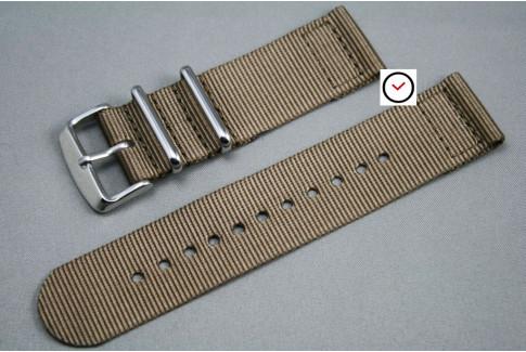 Bracelet montre NATO 2 pièces Marron Bronze