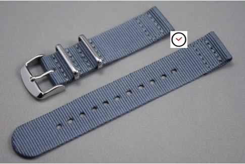 Grey 2 pieces NATO strap (nylon)