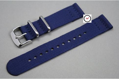 Bracelet nylon NATO 2 pièces Bleu Navy