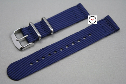 Navy Blue 2 pieces NATO strap (nylon)