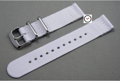 White 2 pieces NATO strap (nylon)