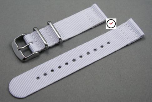 White 2 pieces NATO strap (nylon)