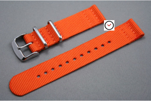 Orange 2 pieces NATO strap (nylon)