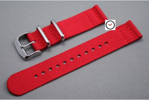 Bracelet montre NATO 2 pièces Rouge
