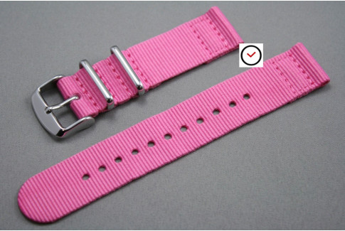 Pink 2 pieces NATO strap (nylon)