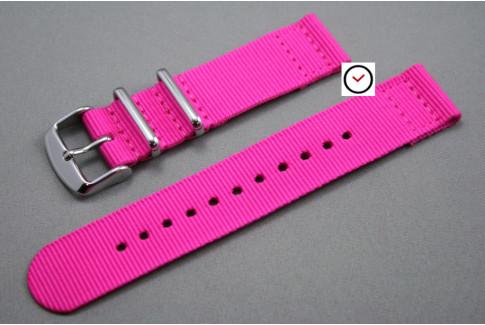 Fuchsia Pink 2 pieces NATO strap (nylon)