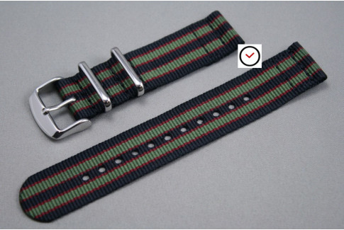Original Bond 2 pieces NATO strap (Black, Green, Red)