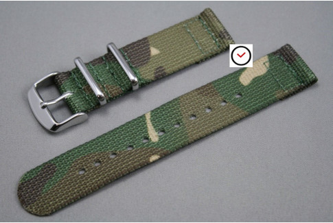 Camouflage 2 pieces NATO strap (nylon)