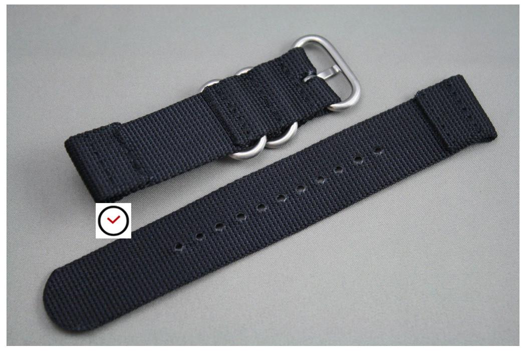 Bracelet montre ZULU 2 pièces Noir