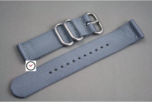Bracelet montre ZULU 2 pièces Gris