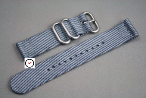 Grey 2 pieces nylon strap (highly resistant fabric)