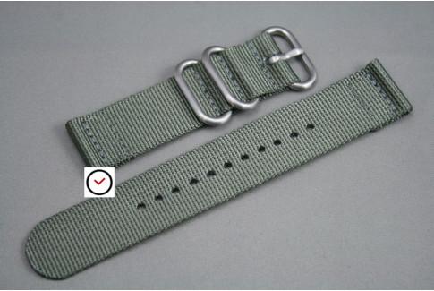 Bracelet montre ZULU 2 pièces Gris Vert