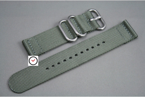 Green Grey 2 pieces nylon strap (highly resistant fabric)