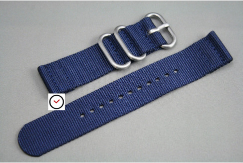 Night Blue 2 pieces nylon strap (highly resistant fabric)