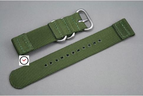 Bracelet montre ZULU 2 pièces Vert Kaki (Militaire)