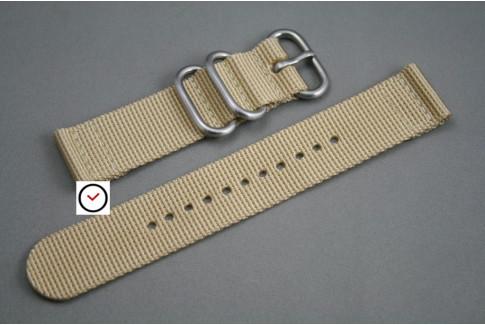Bracelet montre ZULU 2 pièces Beige Sable